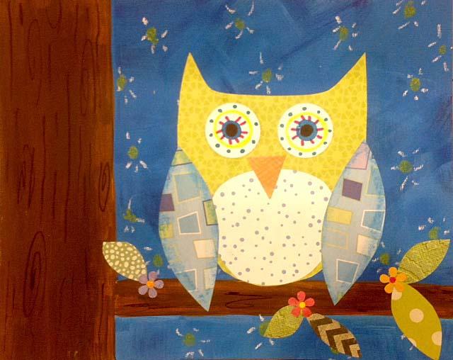 8 x 10 Fall Owl
