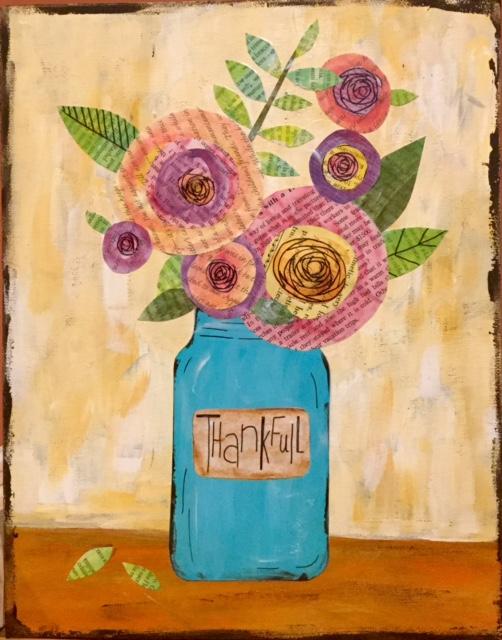 11 x 14 Thankful Flowers